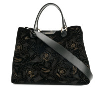 cut out floral tote bag