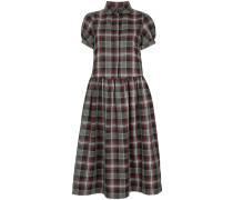 Effie tartan short sleeve dress