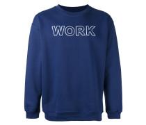 """Sweatshirt mit """"Work""""-Print"""