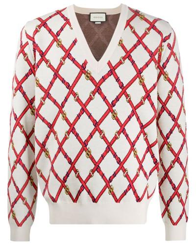 Pullover mit Gürtelmuster