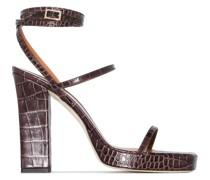 Sandalen mit Kroko-Effekt 110mm