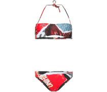 magazine motif bikini