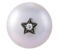 'Superstellar' pearl and diamond stud earring