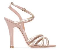 Sandalen mit Metallic-Riemen - women