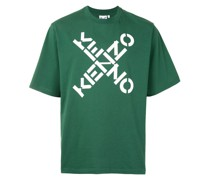 T-Shirt mit überkreuztem Logo