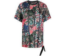 Oversized-T-Shirt mit floralem Muster