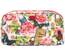 natural life print make-up bag
