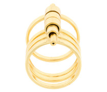 Vergoldetes '182' Ringset aus fünf Ringen