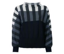 Gestreiftes Sweatshirt in Colour-Block-Optik