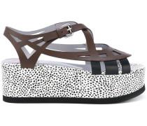 Gepunktete Sandalen - women - Leder/rubber