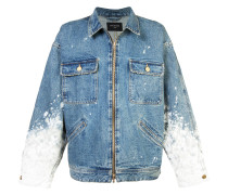 painted sleeves denim jacket