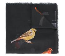 Schal mit Vogel-Print