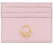 Pink leather cardholder