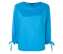 tied sleeve chest pocket top