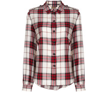 checked buttoned shirt