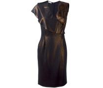 Metallisches Kleid mit Spitzeneinsatz