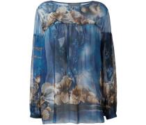 seashells print blouse