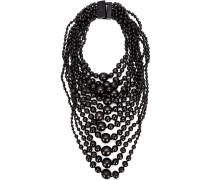 Halskette mit mehreren Ketten und runden