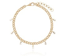 18kt Gelbgoldfußkette mit Diamanten