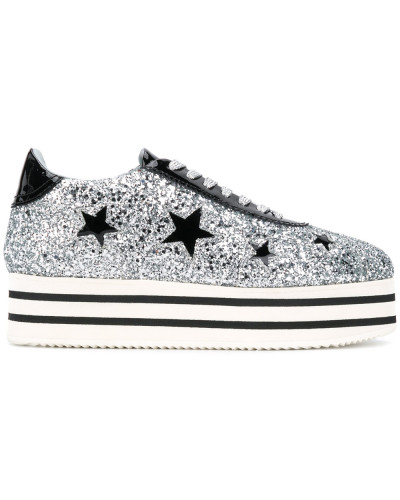 'Star' Sneakers mit Plateausohle