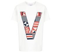 T-Shirt mit V-Logo