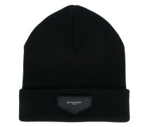 patch detail beanie - men - Acryl/Wolle