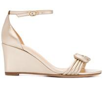 'Vicky' Wedge-Sandalen mit Knoten