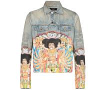 Jeansjacke mit Jimi-Hendrix-Print
