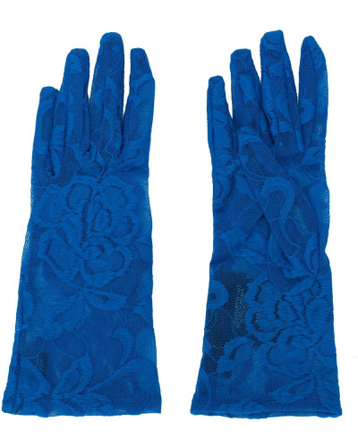Handschuhe aus floraler Spitze