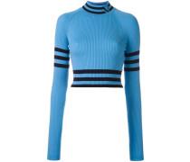 Cropped-Sweatshirt mit Stehkragen