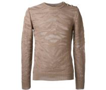 Jacquard-Pullover mit Zebramuster
