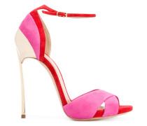 Stiletto-Sandalen in Colour-Block-Optik
