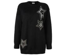 Pullover mit eingestickten Sternen
