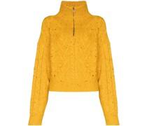 half-zip cable knit jumper
