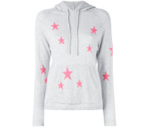 - star printed hooded sweater - women - Kaschmir