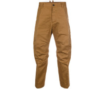 crumpled cropped trousers