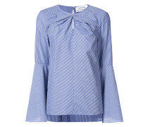 twist front button sleeve blouse