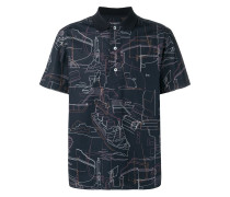 Poloshirt mit abstraktem Print
