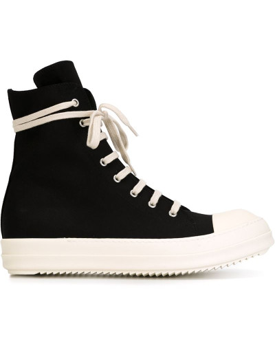 drkshdw by rick owens herren high top sneakers mit rei verschluss reduziert. Black Bedroom Furniture Sets. Home Design Ideas