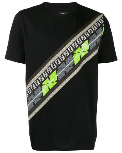 T-Shirt mit perforiertem Logo
