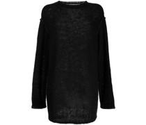 Langer Pullover mit Lochstrickmuster