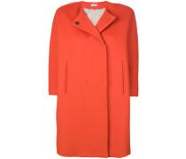 collarless short-sleeve coat