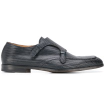 Monk-Schuhe mit gewebter Optik