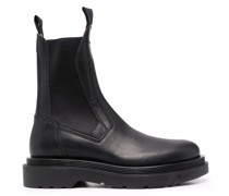 elasticated-panels leather boots