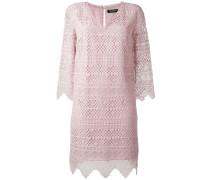 - Besticktes Kleid mit V-Ausschnitt - women