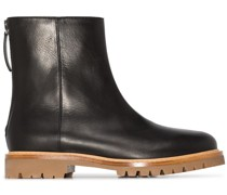New Officer leather ankle boots