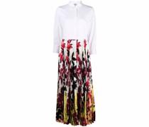 panelled floral-print shirtdress