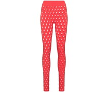 high-waisted perforated leggings