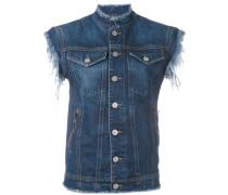 Jeansjacke mit angeschnittenen Ärmeln