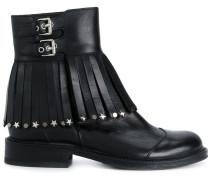 embellished tassel buckle boots